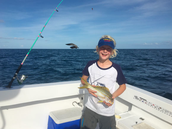 Tristan with yellowtail snapper