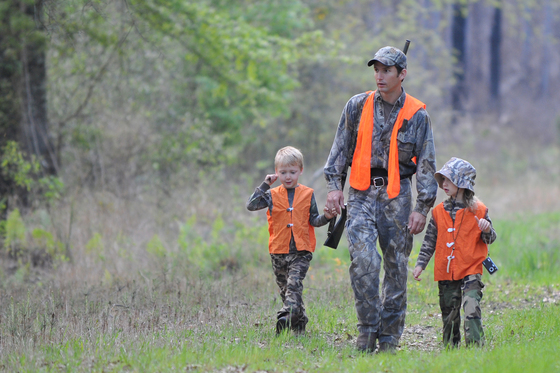 Hunting on a wildlife management area