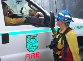 Florida Forest Service burn crew