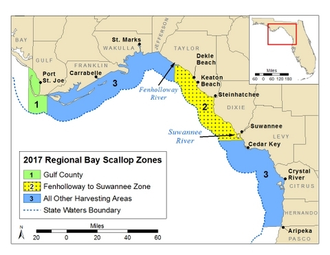 Scallop zone map