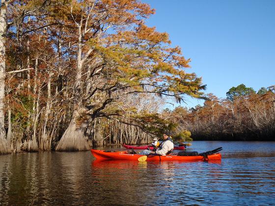 Exploring paddling trails