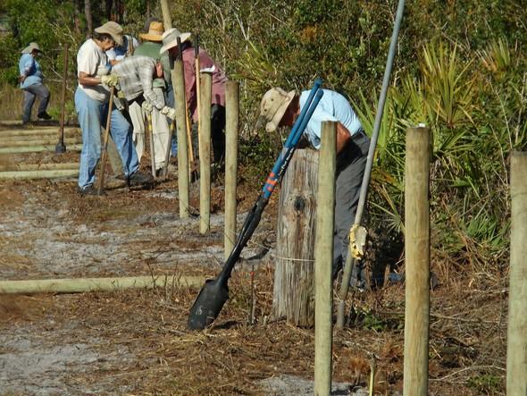 Ridge Rangers Build Fence