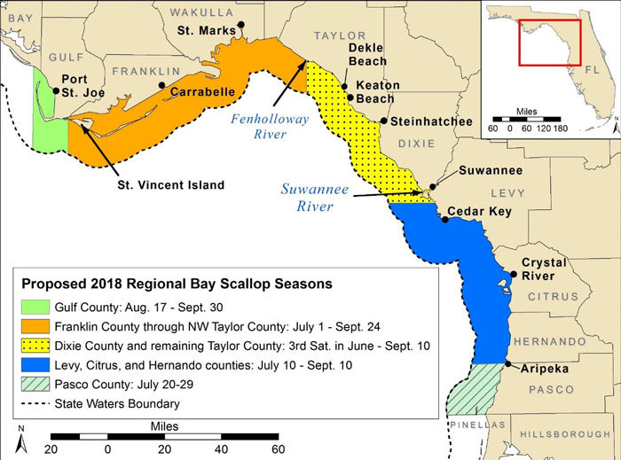 Proposed 2018 Regional Bay Scallop Seasons