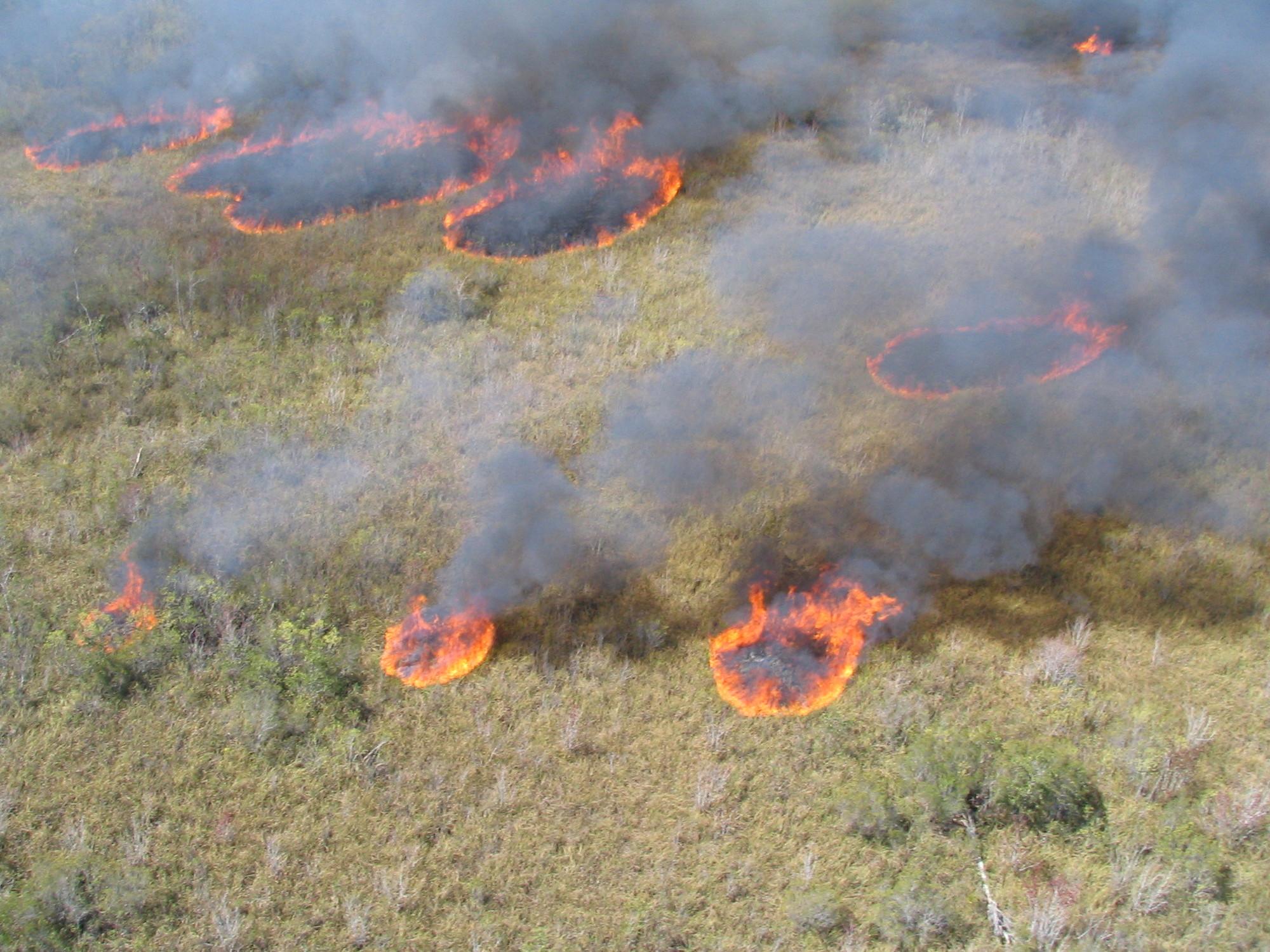 Aerial burning