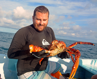 Jason Spadaro and Spider Crab