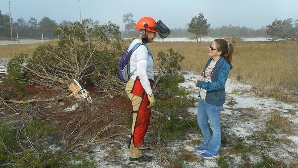 Ridge Ranger being interviewed