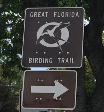 Great Florida Birding and Wildlife Trail Directional Sign