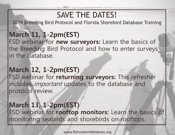 2019 FSD Webinar Dates
