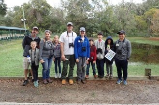 CBC for Kids Participants pose after a successful day of birding