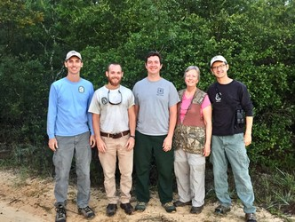 FWC Volunteer Lois Posey with fellow volunteers and FWC staff