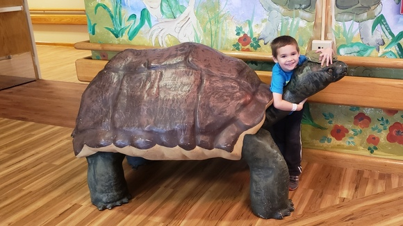 Jack with a turtle