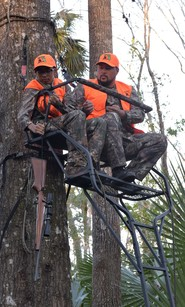Deer hunting from a treestand