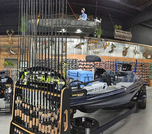 Fishing Tackle and Motorboat