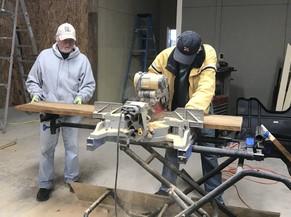 Volunteers make wood duck boxes