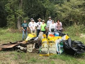 Trash removal at Big Pine Tract