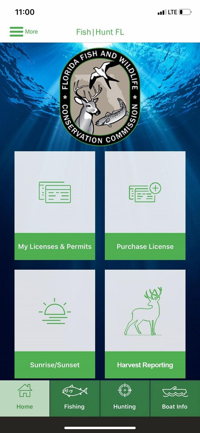 hunt/fish mobile app