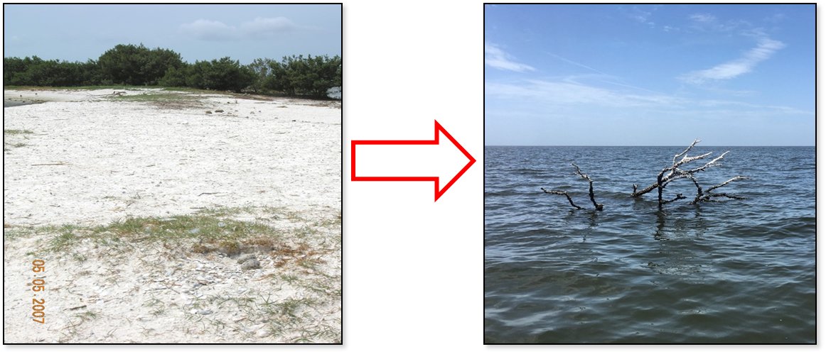Derrick Key Erosion 2007 to 2017