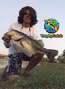 Dominic Montalto with TrophyCatch bass
