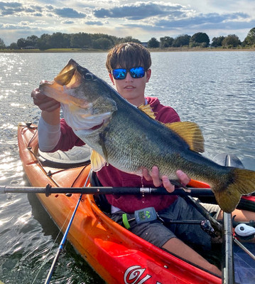Angler with TrophyCatch bass