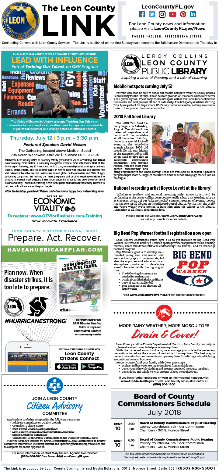 July 2018 Leon County LINK