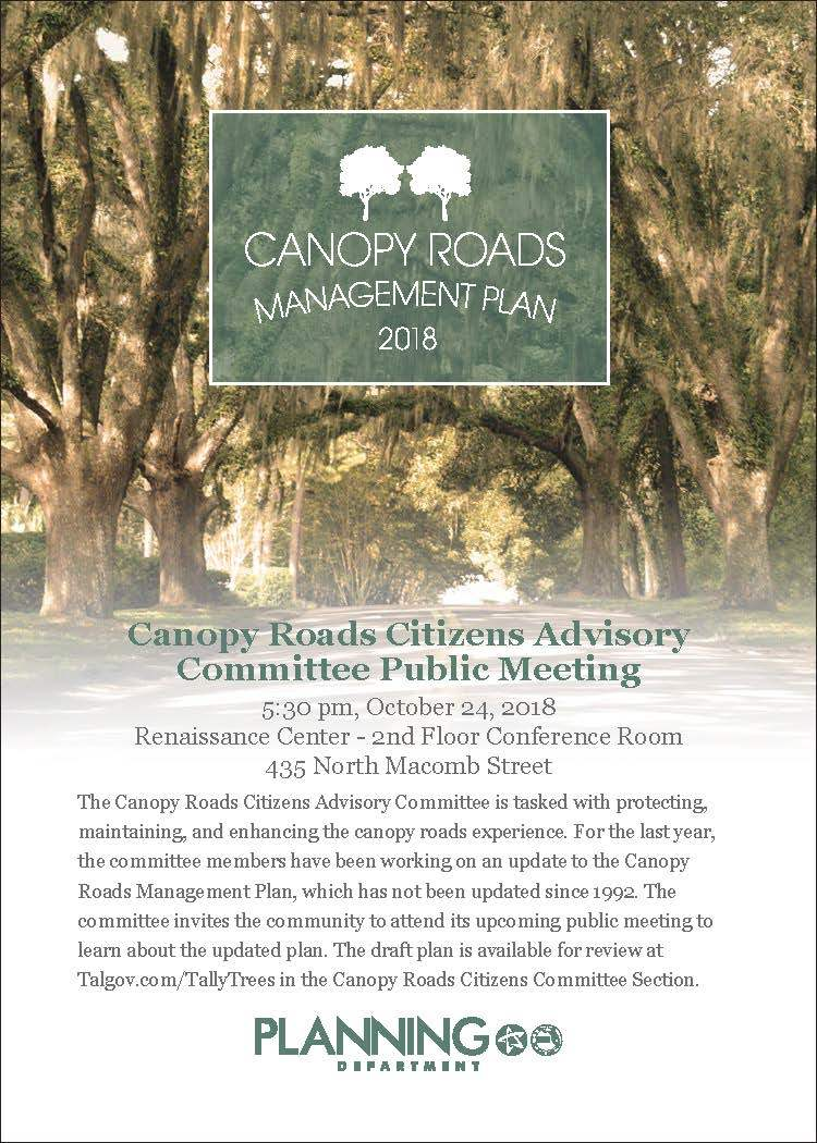 Canopy Road Citizens Advisory Committee Public Meeting