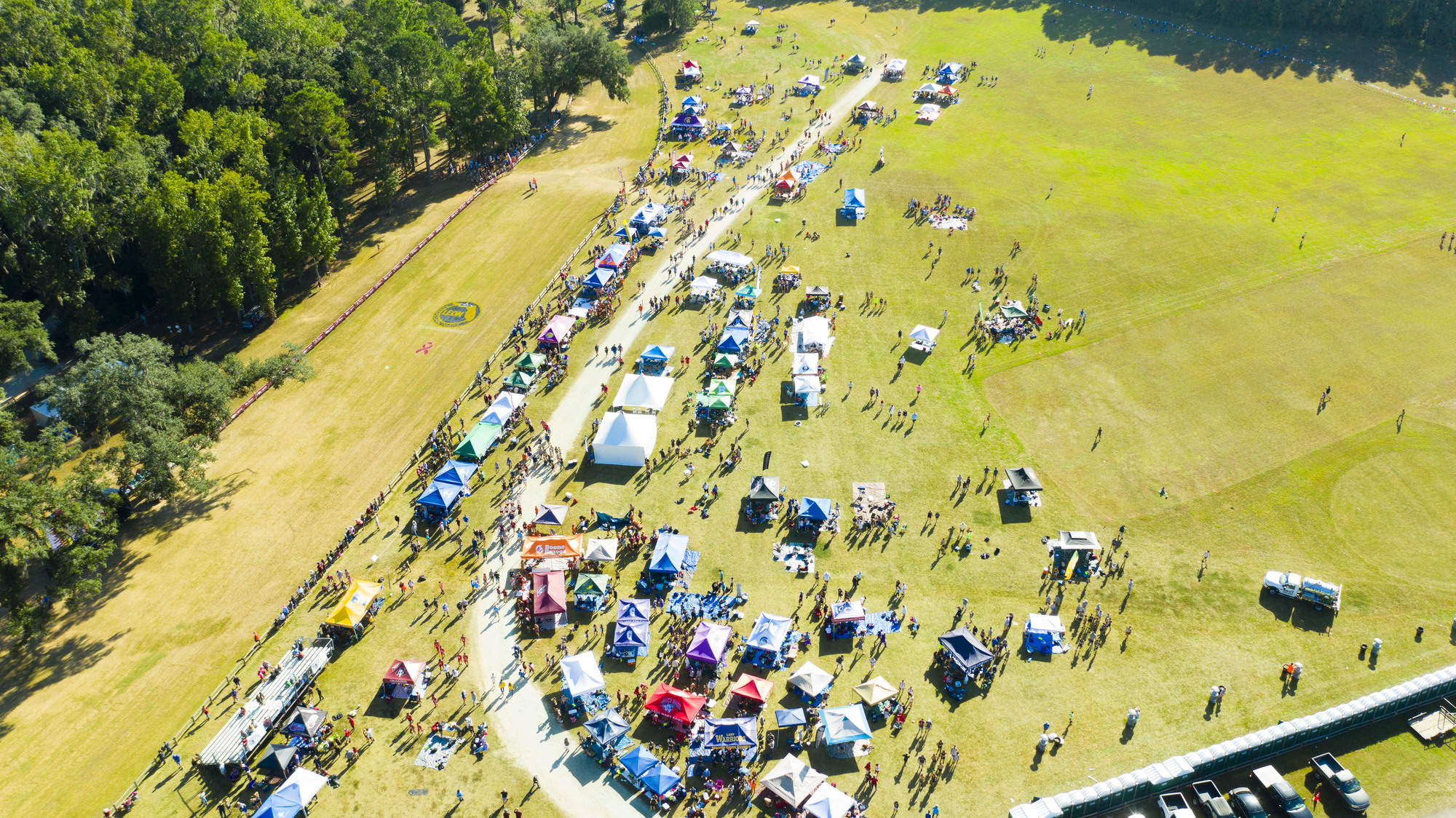 image of tent city at Apalachee Regional Park Running Event