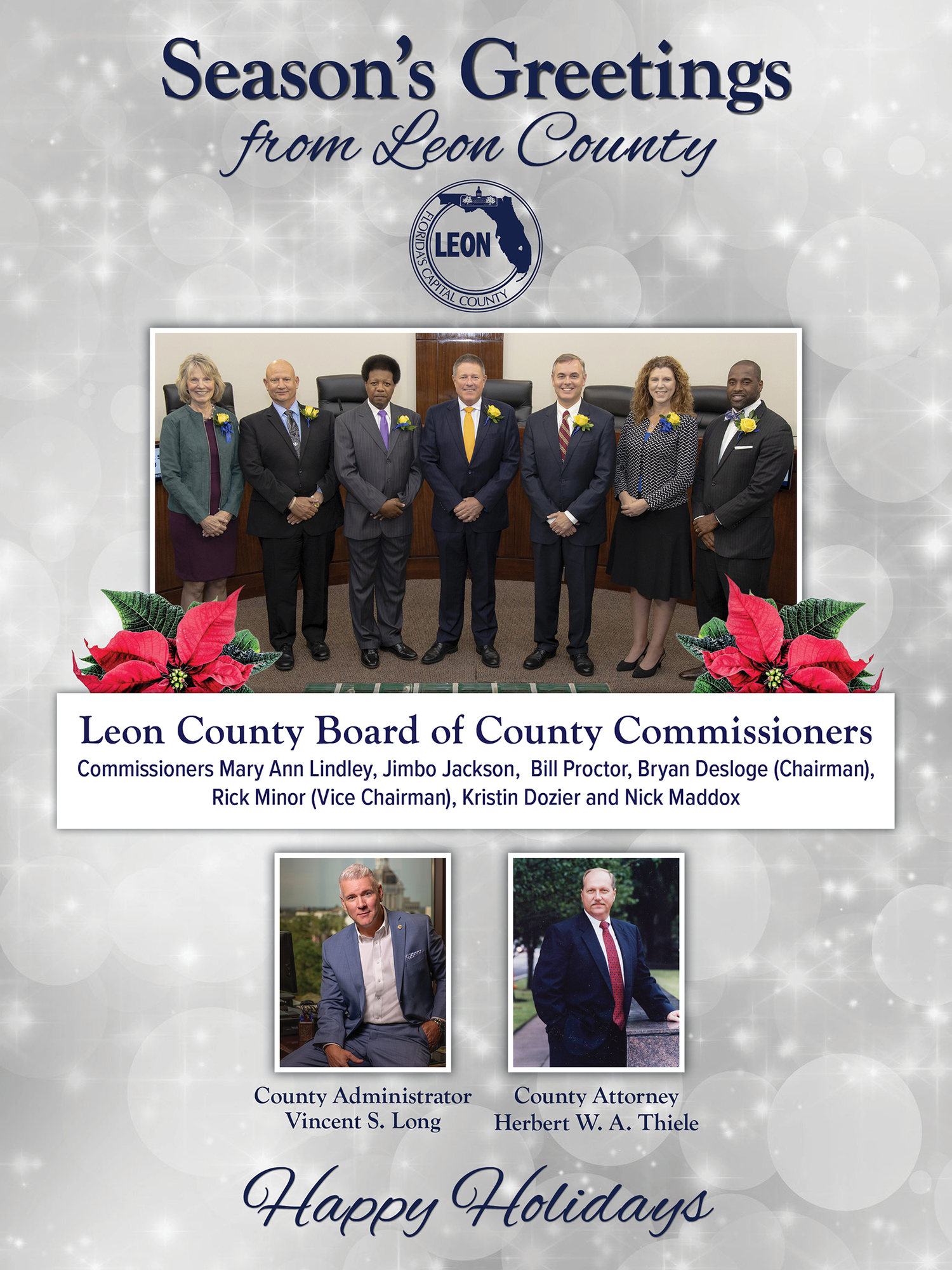 2019 Board of County Commissioners Holiday Photo
