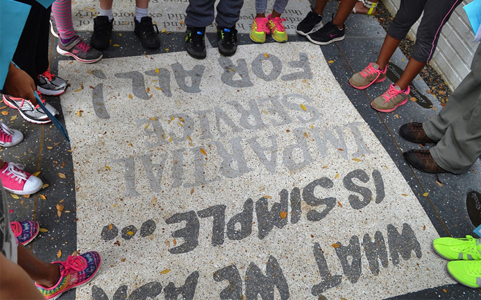 Image of Civil Rights Heritage Sidewalk in Tallahassee