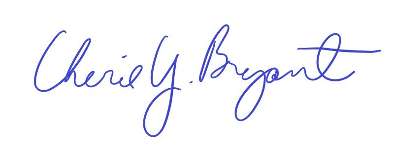 cherie bryant signature