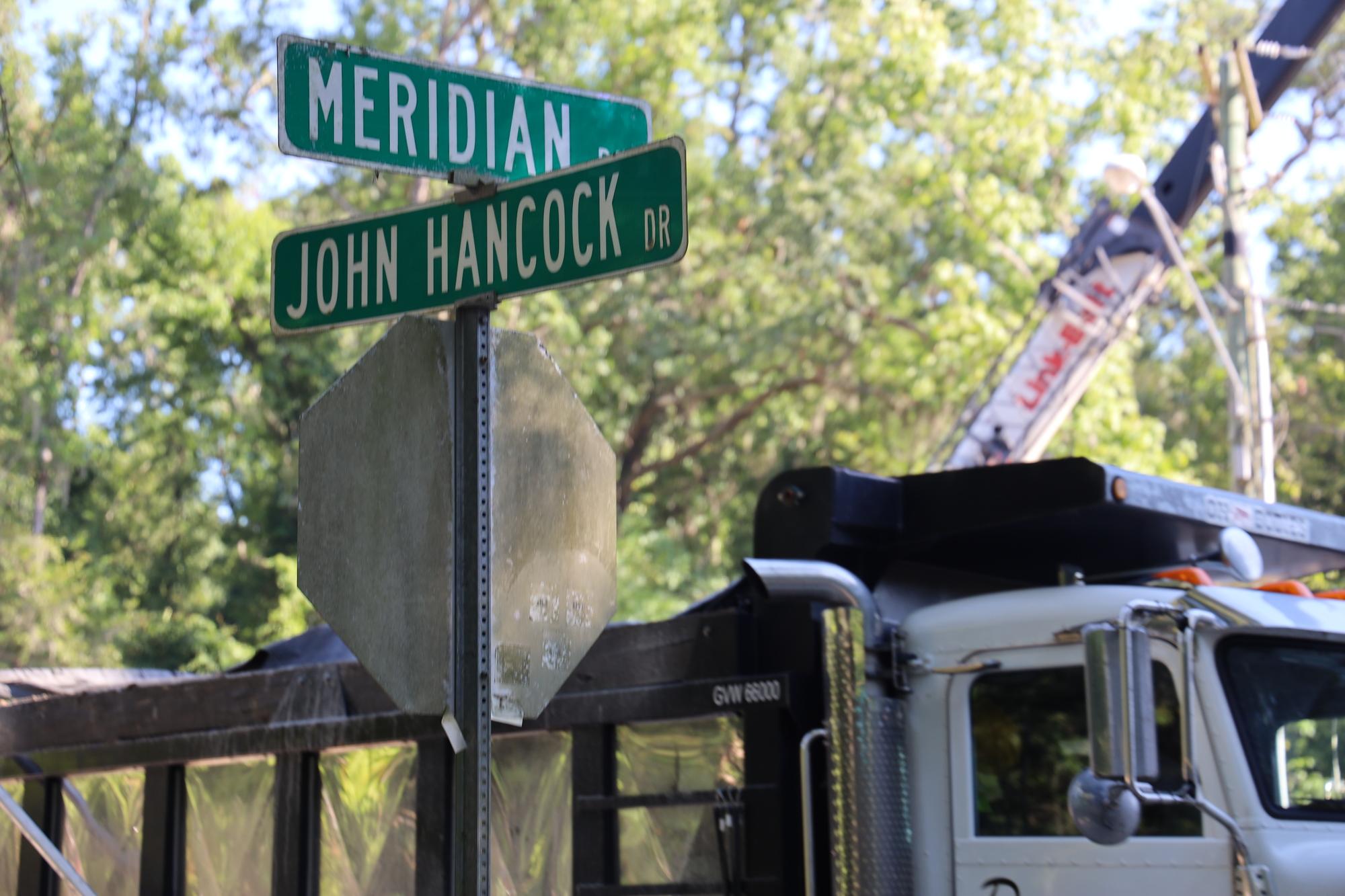 Meridian Street Sign