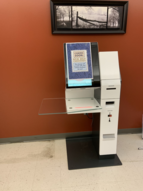RFID self checkout machine at Woodville Branch Library
