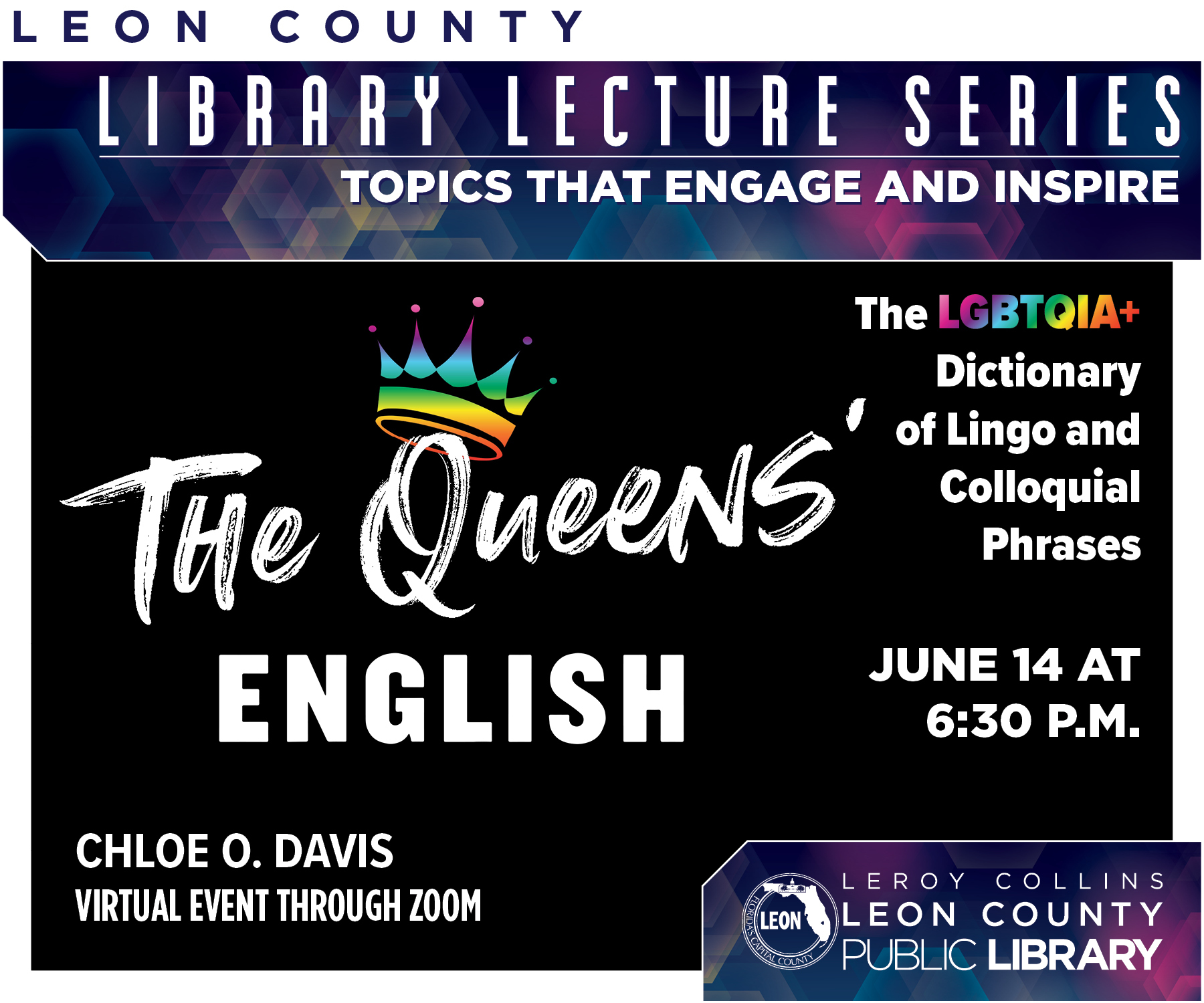 Library Lecture Series: The Queens' English: A Conversation with Chloe O. Davis