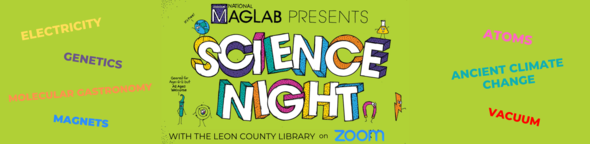 science night logo and mag lab logo graphic