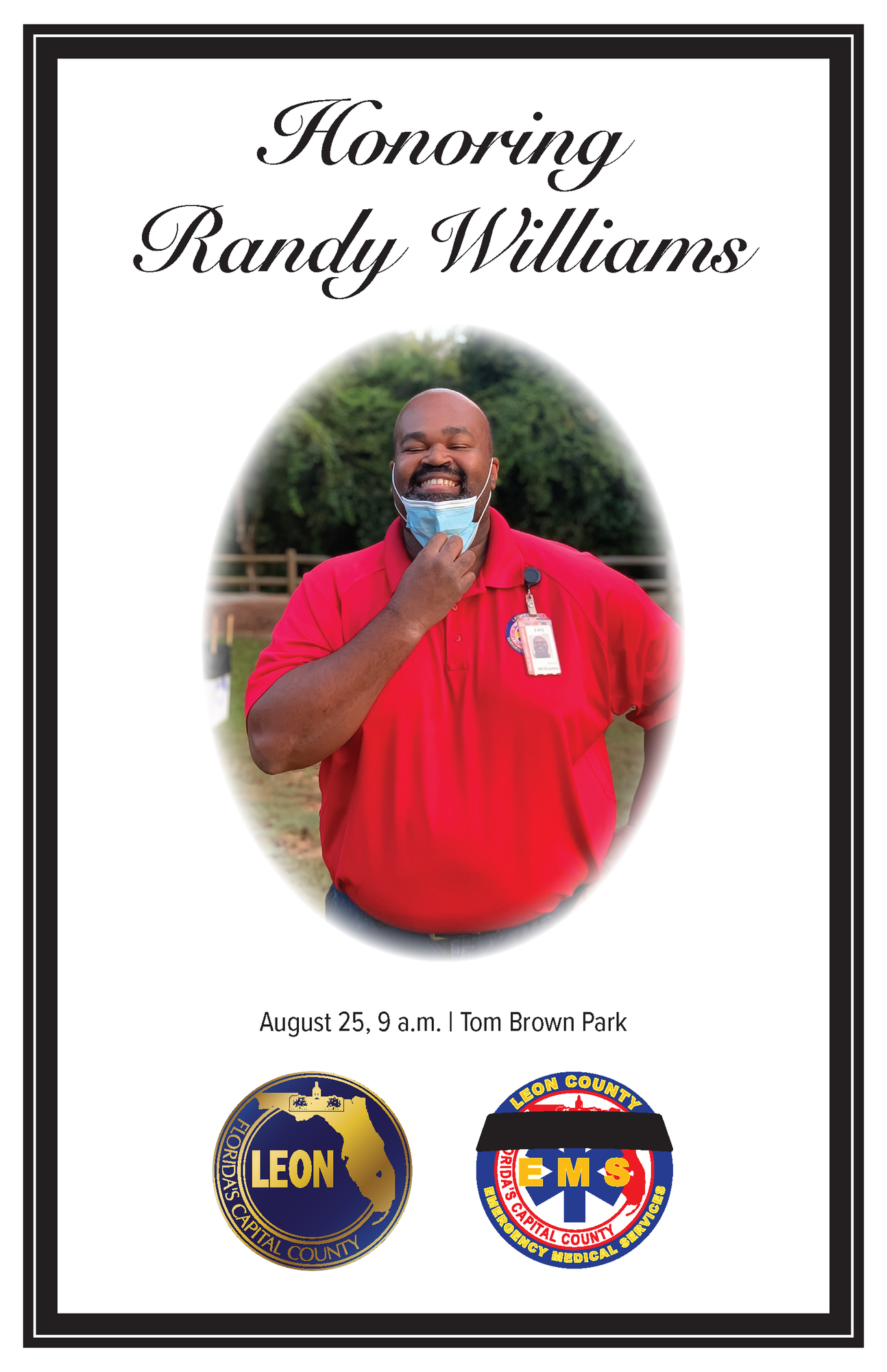 Cover of memorial program