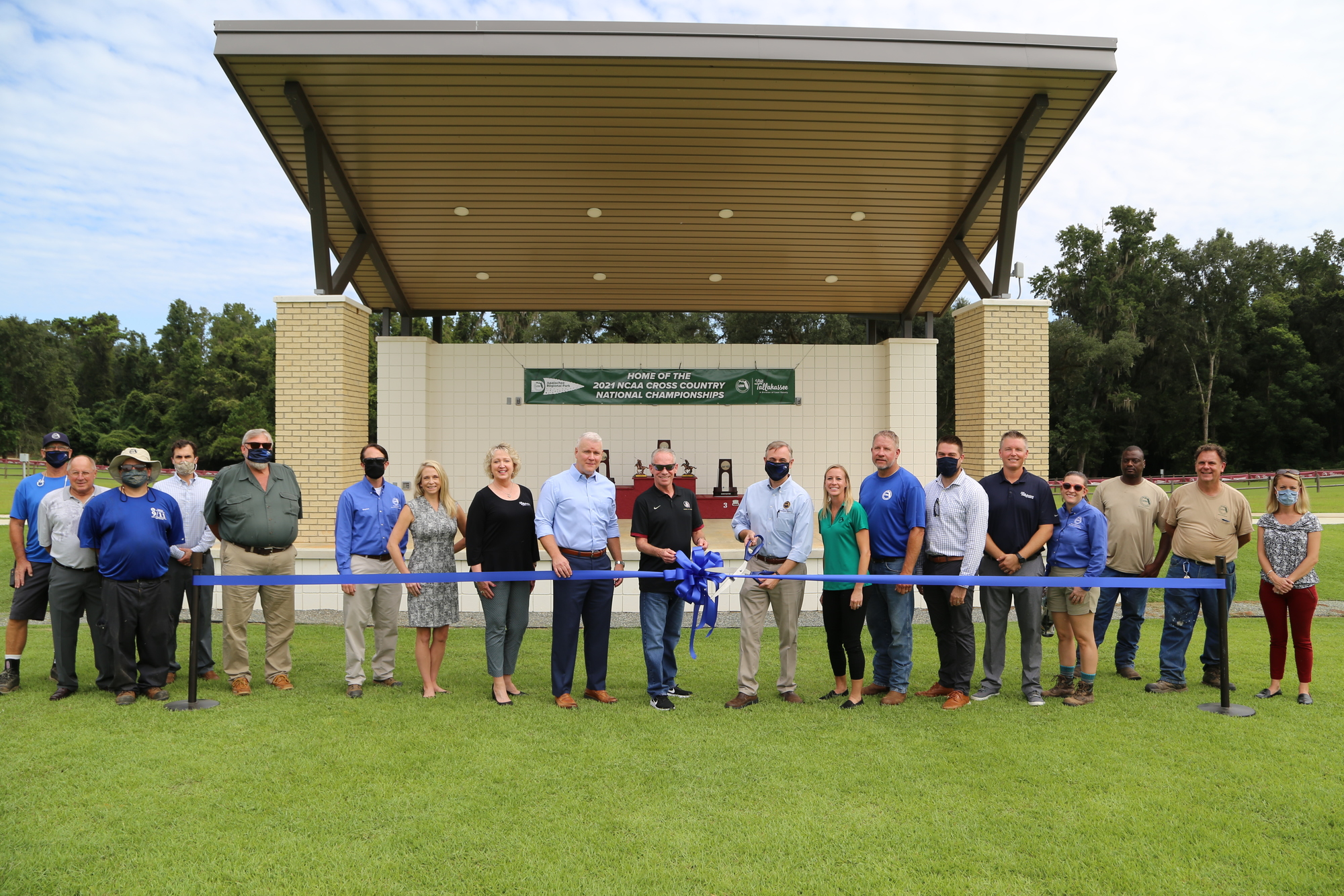 County and community partners cut the ribbon unveiling improvements to Apalachee Regional Park