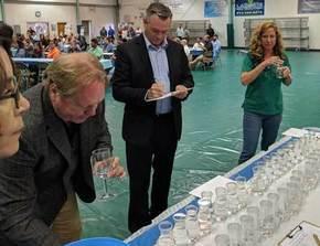 Judges tasting water