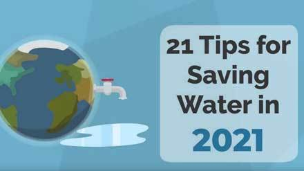 21 tips to save water