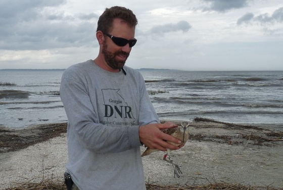 Tim Keyes with curlew (SMBC)