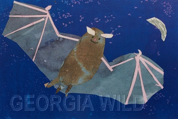 Georgia Wild masthead: Bat artwork