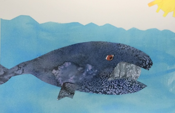 Right whale artwork