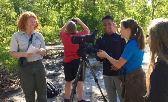 Swainsboro seventh-graders at Ohoopee (DNR)