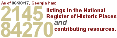 Georgia has 2145 National Register Listings