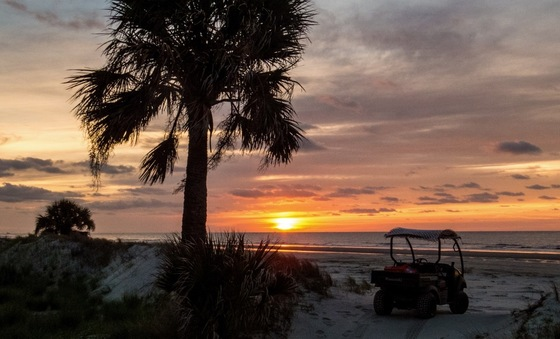 Sunrise on Ossabaw's north beach