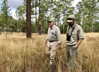 Charlie Tarver and DNR's Joe Burnam (Mark Davis/USFWS)