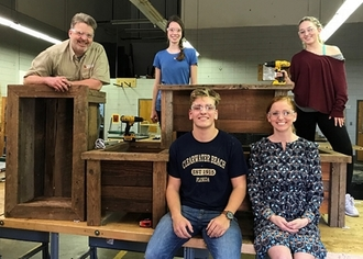 Oconee County High Environmental Club builds wooden planters