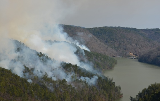 2014 prescribed fire at Tallulah Gorge (Valencia Morris/USFS)