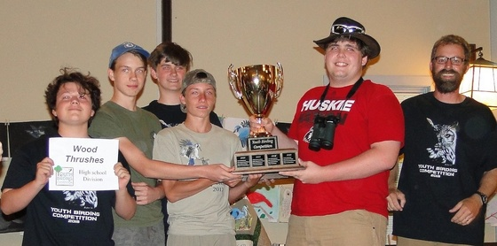 Winning Youth Birding Competition team
