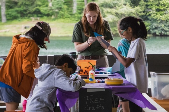 Bat Blitz craft station (Habitat for Bats)