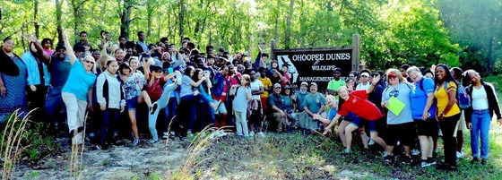 Swainsboro seventh-graders' field class at Ohoopee Dunes (DNR)
