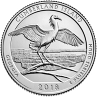 Georgia quarter featuring Cumberland